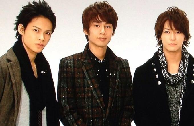 お洒落な冬服KAT-TUNの3人