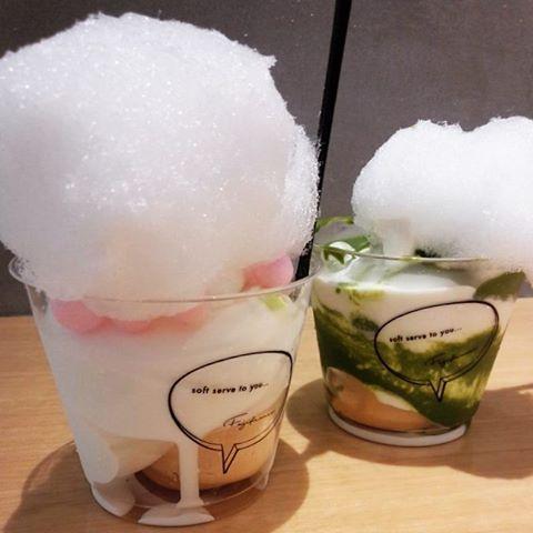 アイスクリーム「Fuji france」綿飴トッピング」