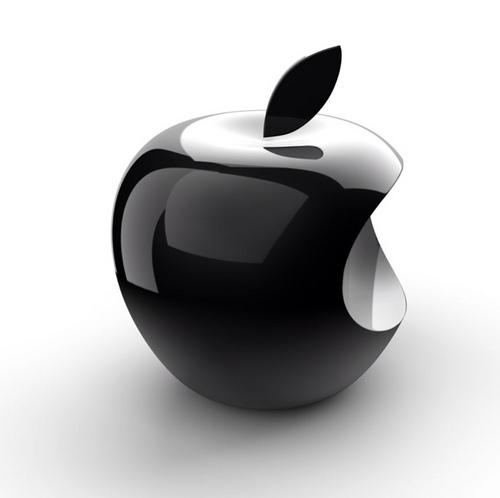 立体的なアップルロゴ