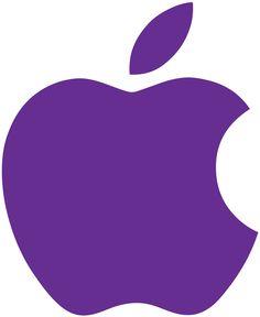 パープルのアップルロゴ