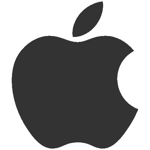 グレーのアップルロゴ