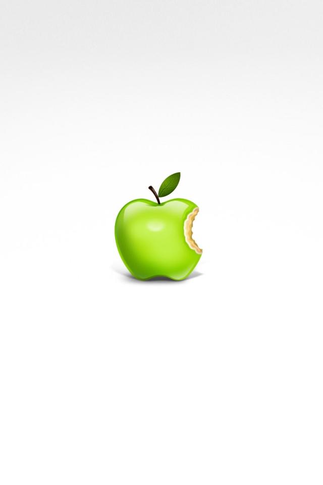 リアルなリンゴのアップルロゴ