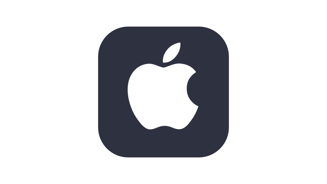 アイコン風アップルロゴ