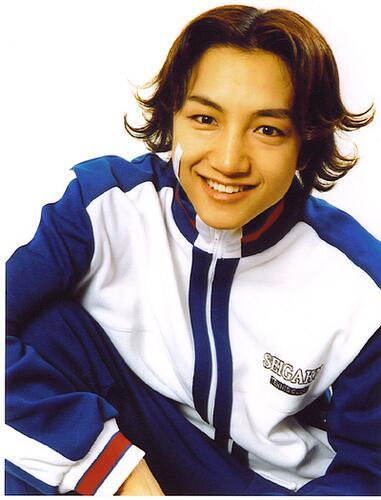 テニスの王子様、菊丸英二役の足立理さん
