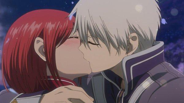 赤髪の白雪姫、ゼンと白雪のキスシーン