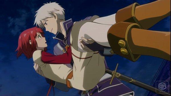 赤髪の白雪姫、すっと白雪を抱き上げるゼン