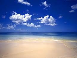 ビーチと青空