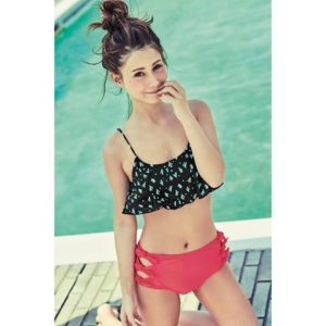 黒とピンクの水着のダレノガレ明美
