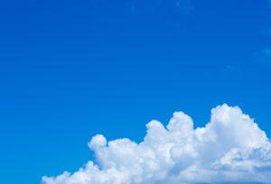 綺麗な青空と雲