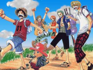 みんなで歩く麦わら海賊団のonepiece画像