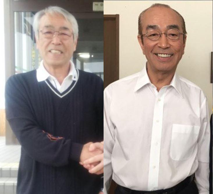お兄さんと志村けんさん。お兄さんは東村山市役所に勤務していました。志村けんさんとは全く違う道を歩んでいますね。