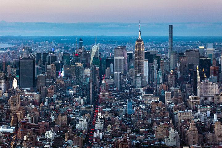 ニューヨークで話題のワン・ワールド・オブザーバトリーからマンハッタンを一望。絶景ですね。