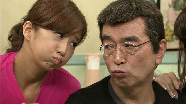 優香さんと一緒にほっぺを膨らませる志村けんさん。本当に仲がよさそうです。