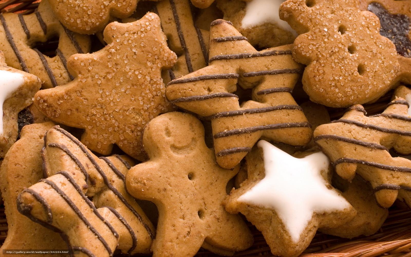 星形やツリー型やヒト型など様々な形をしたクッキーです。チョコレートで描かれたストライプやアイシングなど見た目にも楽しいですね。