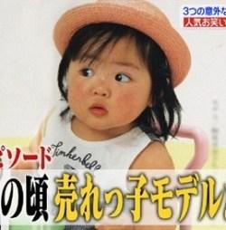 赤ちゃんモデルをしていたころの柳原可奈子さん。このころからふっくらとしていますね。面影がありますね。