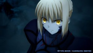暗闇に黄金瞳のセイバー