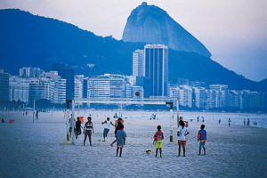 リオデジャネイロのコパカバーナビーチ