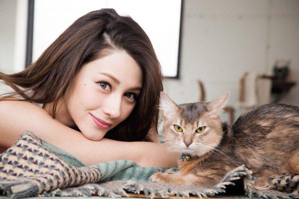 """ダレノガレ明美さんの""""かわいい息子""""、ソマリのジジ吉くん。芸能界きっての猫愛好家としても知られています。"""
