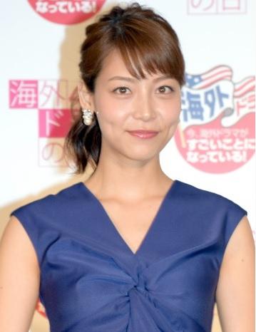 ロイヤルブルーのドレスがドレッシーな相武紗季さん。ドラマでは何故か悪役を演じることが多いそうです。