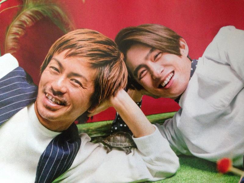 仲良しの三宅健さんと一緒の森田剛さん。いつもでも仲良しでいてほしいですね。