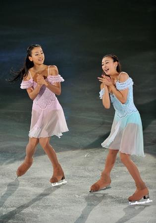 妹の浅田真央さんと共演している浅田舞さん。天使が2人いるようですね。