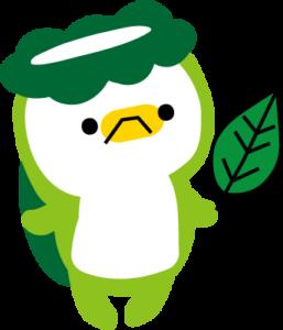 葉っぱを持っているカッパ