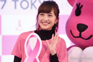 ピンクでかわいい百田夏菜子