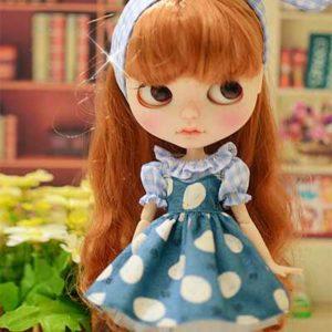 水玉ワンピのブライス人形