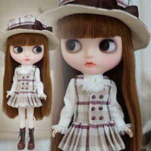 タータンチェックのブライス人形