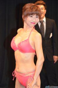 ピンクの可愛い水着の大場久美子