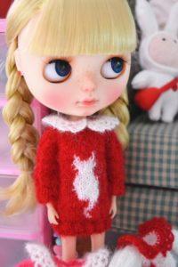 ざっくりワンピのブライス人形