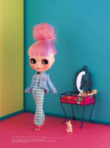 ボーダーコーデのブライス人形