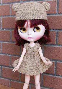 くま耳ニットのブライス人形