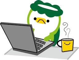 PCを使うカッパ