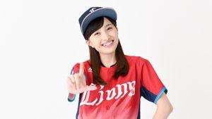 野球ユニフォームの百田夏菜子