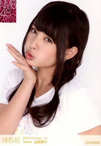 NMB48時代の山田菜々さん。「ちゅっ」と突き出した唇がうるうるです。