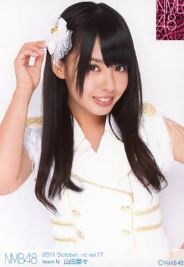 NMB48時代の山田菜々さん。黒髪がとっても似合う美少女ですね。