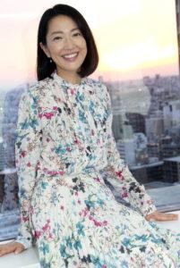 花柄ワンピの羽田美智子