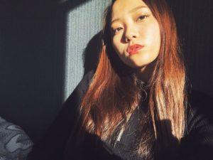 赤リップがかわいい工藤綾乃